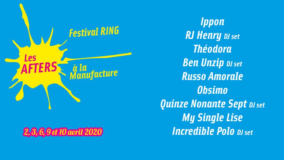 affiche des afters du festival ring
